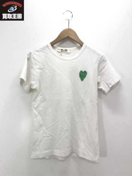 PLAY COMME des GARCONS ワンポイントロゴS Sカットソー(M)白