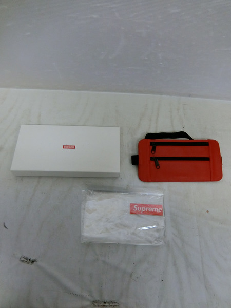 Supreme 19SS Leather Waist Shoulder Pouch Red
